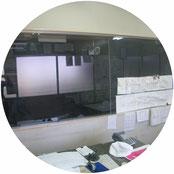 管理室破損部改修工事