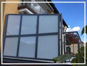 Aluminium Sonderkonstruktionen und Sicht / Windschutz bei Metallbau Büttner GmbH in Schwabach