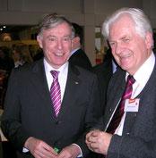 Strahlend: Bundespräsident Horst Köhler und  Stifter Herr  Schweisfurth. Foto: Helga Karl