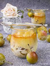 Mirabellen-Käsekuchen im Glas