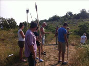 Organisation d'une compétition de tir aux armes préhistoriques