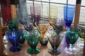 Antiek glas en antiek kristal