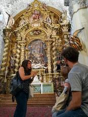 Visite guidée en français de la chapelle de l'hôpital de la charité, Valdès Leal, Esteban Murillo, art baroque. Monument insolite Séville. Hospital de la caridad