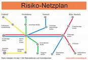 Risiko-Consulting - Risiko-Netzplan mit ca. 1000 Risikostationen und Kontrollpunkten.