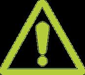 point exclamation vert assurance crédit attention risque danger emprunt s'assurer