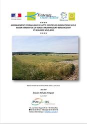Ouvrages d'écrêtement des crues, étude d'impact, 2017