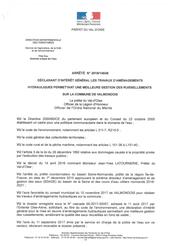 Arrêté DIG travaux ruissellement à Valmondois, 2018