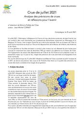Crue de juillet 2021, analyse des prévisions de crues