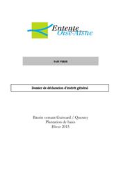 Dossier de DIG, plantations de haies à Guiscard et Quesmy, hiver 2015, 2015