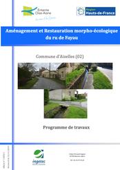 Aménagement et restauration morpho-écologique du ru de Fayau, 2019
