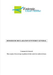 Dossier de DIG, ouvrage en gabions à Buchoire, 2015
