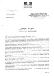Règlement d'eau (en vigueur), 2014