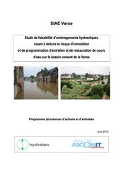 Etude de faisabilité d'aménagements et PPRE, Hydratec, 2012