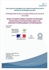 Dossier d'enquête unique, barrages de la Verse, 2021