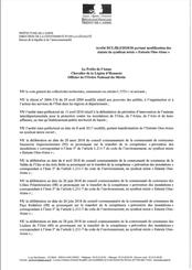 Arrêté préfectoral du 17 octobre 2018