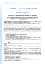 Décret n°2019-895