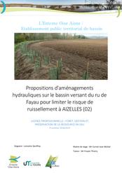 Propositions d'aménagements, Aizelles, rapport de stage, 2019