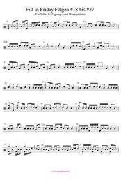Drum Fills online lernen Noten