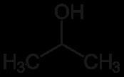 Strukturformel des Isopropanols.