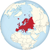 Europa - author: Wikimedia Commons url: https://commons.wikimedia.org/wiki/File:Europe_on_the_globe_(red).svg