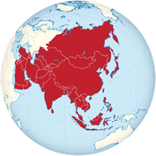 Asien - author= Wikimedia Commons url= https://de.wikipedia.org/wiki/Datei:Asia_on_the_globe_(white-red).svg