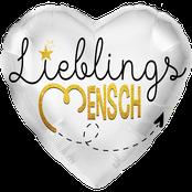 Ballon Freundin Frau Schatz Folienballon Valentinstag Lieblingsmensch  Herz Liebe Geschenk Überraschung Mitbringsel Heliumballon Luftballon