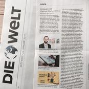 """Zeitungsbericht """"Die Welt"""" Stefan Wirkus und warum er gut wirkt"""