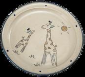 Kinderteller Motiv Giraffe