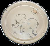 Kinderteller Motiv Elefant