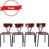 chaises industrielles,chaises pagholz,chaises école anciennes,chaises indus,pagholz,pagwood,majdeltier,vintage et design