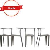 chaise dr glob,dr glob,kartell vintage,design kartell,design philippe starck,gris clair