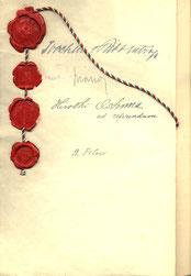 Official document signed by Joachim Ribbentrop, Galeazzo Ciano, Hiroshi Oshima, and Bogdan Filov, entering Bulgaria into the Axis alliance, 3 Jan 1941