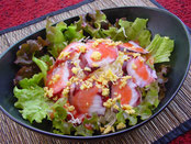 真ダコと山芋のさっぱり梅肉サラダ:一品料理