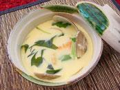 ハマグリのおどり茶碗蒸し:一品料理
