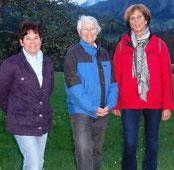 Renate Köberl, Julia Angerer und Waltraud Zach