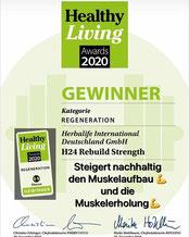 Healthy Living Awards-Gewinner in der Kategorie Regeneration H24 Rebuild Strength!