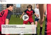 """TuS Usseln unterstützt """"Bildungspaket: Mitmachen möglich machen"""""""