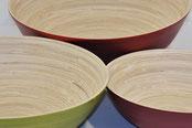 plats évasés en bambou / gamme transparence Caneco
