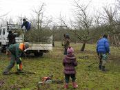 Fleißige Helfer bei der Landschaftspflege
