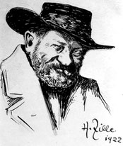 Heinrich Zille, Selbstportait