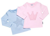 Babyshirt mit Vichykaro-Motiv