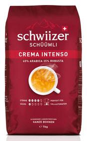 Schwiizer Schüümli Intenso Bohnenkaffee 1kg 65% Arabica 35% Robusta