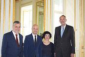 Alfred Klampfer (OÖ), Robert Klinglmair (K), Evelyn Marte-Stefani (V) und BM Faßmann  Foto:APA Fotografin:Magdalena Tanzler Fotocredit:BMBWF