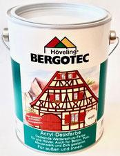Bergotec Acryl-Deckfarbe geeignet fürBeton, Putz, Mauerwerk, Zink-/Kunststoffdachrinnen - kein Abblättern - kein Reißen - atmungsaktiv