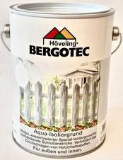 Bergotec Aqua-Isoliergrund für weiße oder helle Schlussanstriche mit Acryl-Deckfarbe auf rohem oder abgewittertem Holz