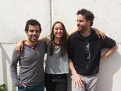 Javier Moreno, Vanesa López y Nicolás Ost