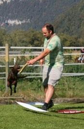 Ivo mit Jillaroo beim longieren im Arbeitsweekend vom VATH