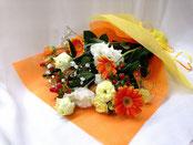 花束1500 黄オレンジ系