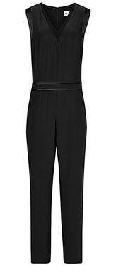 Reiss satin trim jumpsuit