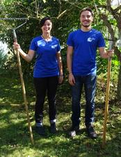 Daria und Jonas freuen sich auf ein abwechslungsgreiches Jahr beim LBV